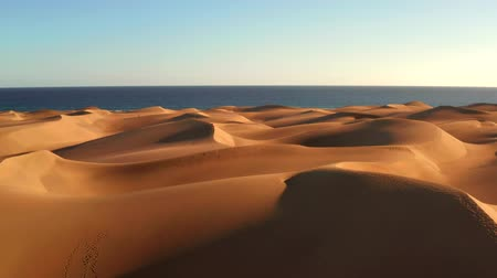 サハラ : Aerial view of sand dunes of Maspalomas, Gran Canaria, Canary Islands, Spain