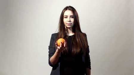 ağız : emotion-girl with orange
