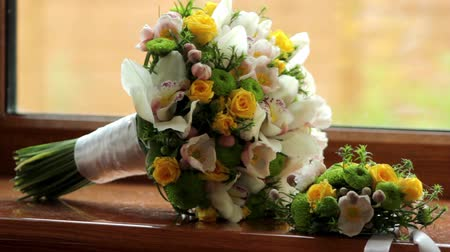 bouquets : wedding bouquet Stock Footage