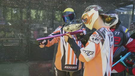 бункер : June 2019, Vinnitsa, Ukraine - Paintball Championship. About sports, fun, action, war, fighting, sports, paint, race, tournament, playground, weapons, adrenaline, game