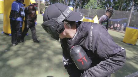 combate : June 2019, Vinnitsa, Ukraine - Paintball Championship. About sports, fun, action, war, fighting, sports, paint, race, tournament, playground, weapons, adrenaline, game