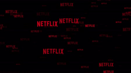webseite : LONDON, UK - 26. Februar 2019: Netflix-Logo fliegt durch Animation
