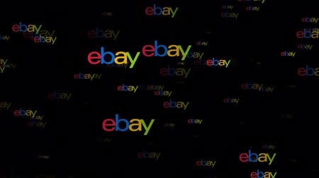 ebay : LONDON, UK - February 26th 2019: Ebay marketplace logo fly through animation