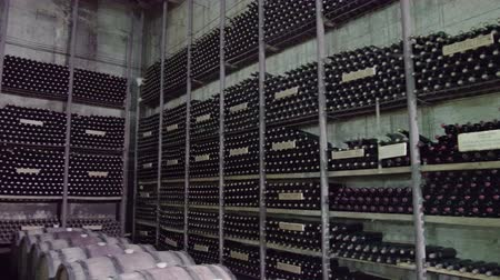 dionysus : Bottles of wine in traditional wine cellar
