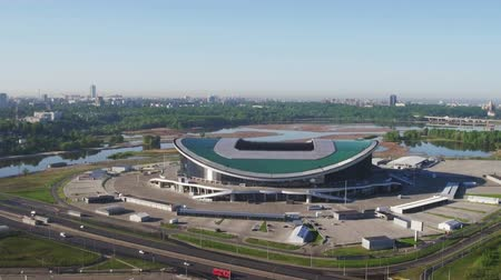 palace complex : Russia, Kazan - May 18, 2018: Aerial view of Kazan Arena Stadium
