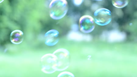 szappan : Soap bubbles floating around shooting with high speed camera