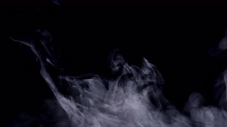 modo : Realistic smoke, fog, haze isolated on black background, screen mode for blending overlay effect. Real-time 4K shot.