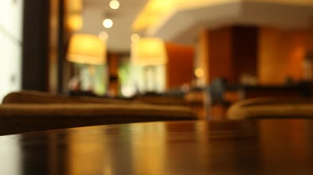 lobi : Lobby hotel blurred background Stok Video