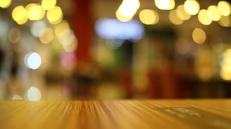 blur : on the table at cafe blurred background