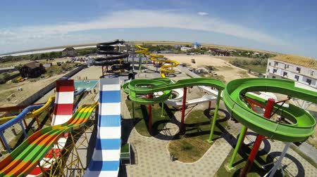 aqua park : Genichesk, Ukraine - August 30, 2017: Aquapark Oasis panorama view