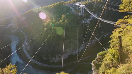 catenary : Unique SKYPARK AJ Hackett Sochi, Ahshtyrskaya gorge in the Mzymta river valley