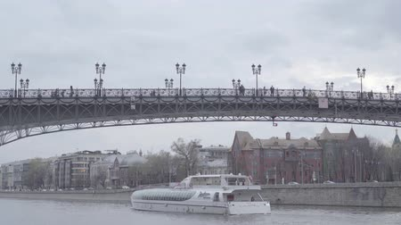 Ship Radisson under the Patriarchal bridge, Tsvetkov Mansion and Pertsov house