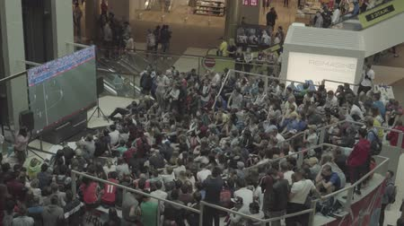 солидарность : fans watch the live broadcast of the Russia-Uruguay match in the mall Gallery