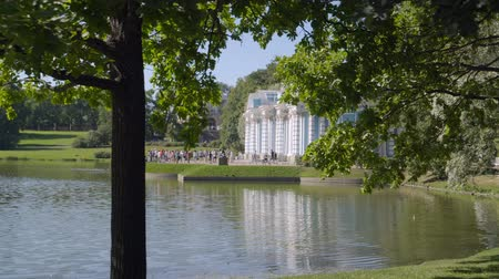 barok : Walking to Pavilion Hermitage in Alexandrovsky Park in summer sunny day