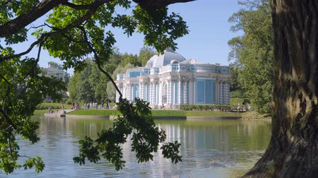 donuk : Walking to Pavilion Hermitage in Alexandrovsky Park in summer sunny day