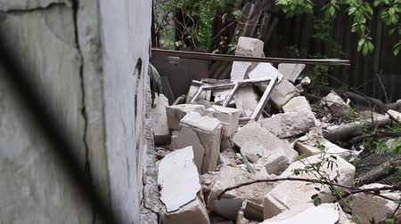 danger of collapse : Destruction of old houses, earthquakes, economic crisis, abandoned houses