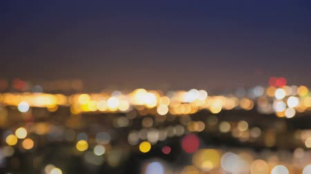 ночная жизнь : City lights blur at night. London