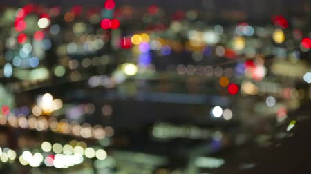Night lights of London, blur background made from 32 floor of Londons skyscraper