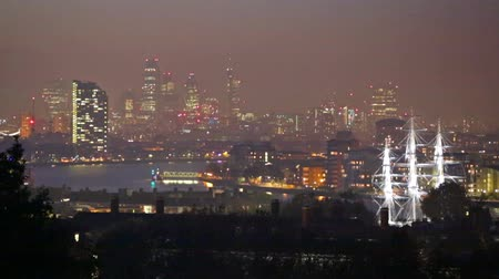 LONDON, UK - OCTOBER 31, 2015: City of London  view from Greenwich hills