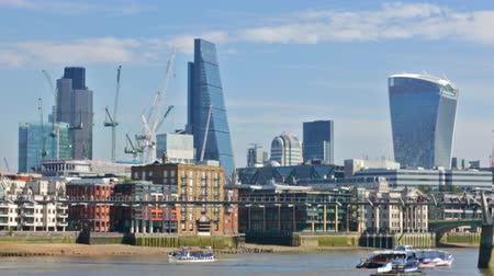 LONDON, UK - September 20, 2015: City of London view from the Waterloo bridge