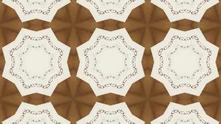 contornos : White Poly Art Kaleidoscope  in seamless brown Geometric Hypnotic Fractal animation background