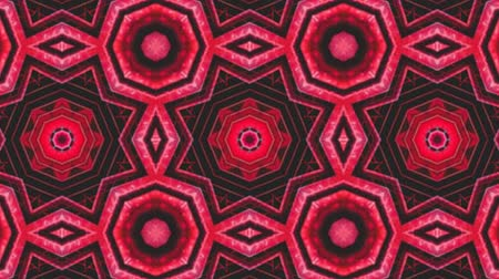 contornos : Red Poly Art Kaleidoscope in seamless Black Geometric Hypnotic Fractal animation background Vídeos