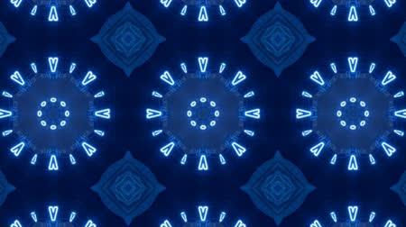 obrys : Light Blue Poly Art Kaleidoscope  in seamless Blue Geometric Hypnotic Fractal animation background