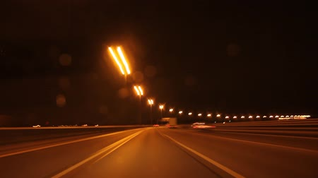 auto estrada : speed on night road time lapse Vídeos