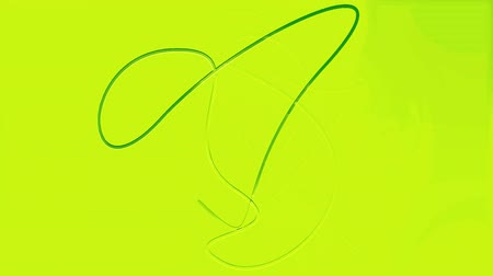squirm : abstract silhouette of a dancing green arrows