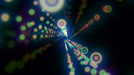 tecnológica : Motion colorful dots abstract background. Elegant dynamic neon style Stock Footage