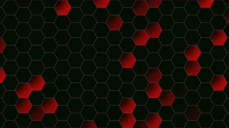 folyamatos : Motion red hexagon abstract background. Elegant and luxury dynamic style for business template Stock mozgókép