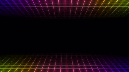 folyamatos : Motion retro colorful lines abstract background. Elegant and luxury dynamic geometric 80s, 90s style template Stock mozgókép