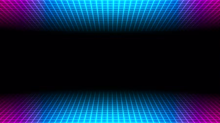 непрерывный : Motion retro blue lines abstract background. Elegant and luxury dynamic geometric 80s, 90s style template