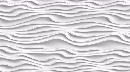 непрерывный : Motion white waves abstract background. Luxury and elegant dynamic style for business template