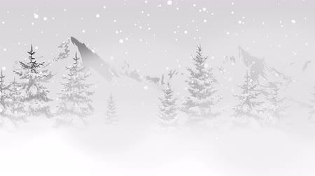 glorious : Christmas trees in the mountains. Happy New Year and Merry Christmas shiny background. Luxury and elegant dynamic style template for a winter holiday
