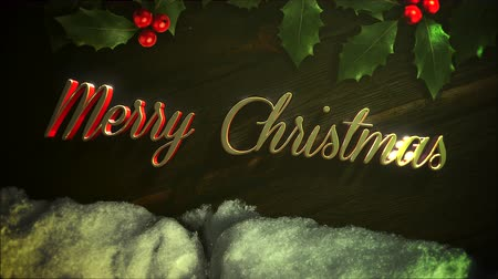 glorious : Merry Christmas text on wood background. Luxury and elegant dynamic style template for a winter holiday