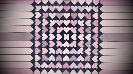 tecnológica : Motion colorful hearts pattern, abstract background. Elegant and luxury dynamic geometric style template