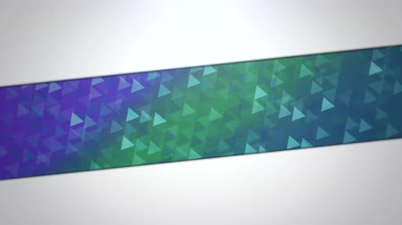 techno : Motion blue and green triangles abstract background. Elegant and luxury dynamic geometric style for business template Stock Footage