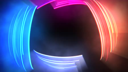 dinamik : Motion colorful neon lines abstract background. Elegant and luxury dynamic club style template
