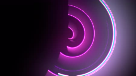 synth : Motion colorful circles vertigo, abstract background. Elegant and luxury dynamic neon club style template