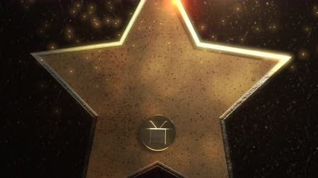 プレゼンテーション : Motion gold star, abstract background. Elegant and luxury dynamic style for awards template 動画素材