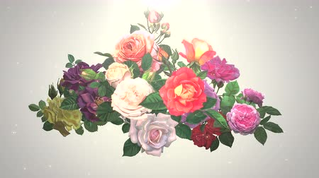 duvar kağıdı : Closeup flowers, motion wedding background. Elegant and luxury pastel style, animation footage