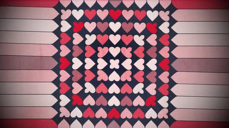 hipnoza : Motion colorful hearts pattern, abstract background. Elegant and luxury dynamic geometric style template