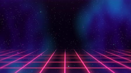 dizayn : Motion retro red lines in space, abstract background. Elegant and luxury dynamic 80s, 90s style template Stok Video