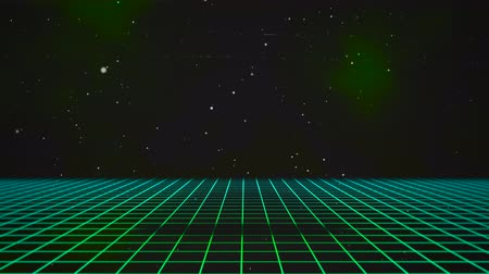 dizayn : Motion retro green lines in space, abstract background. Elegant and luxury dynamic 80s, 90s style template