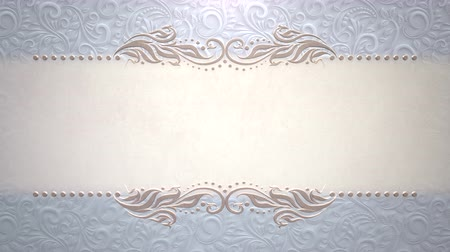 zaproszenie : Closeup vintage frame with flowers motion, wedding background. Elegant and luxury pastel style, animation footage Wideo