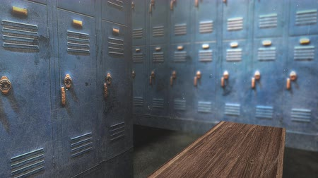 safe workout : Motion camera in school locker room, education background. Elegant and luxury animation footage Stock Footage