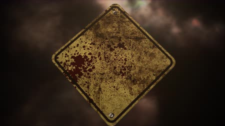 sírkő : Mystical horror background with road sign and dark blood. Holiday Halloween, abstract backdrop. Luxury and elegant dynamic animation footage of halloween theme
