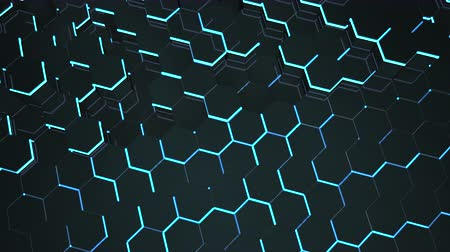 digital art : Motion dark black hex grid background, abstract background. Elegant and luxury dynamic style for business and corporate template
