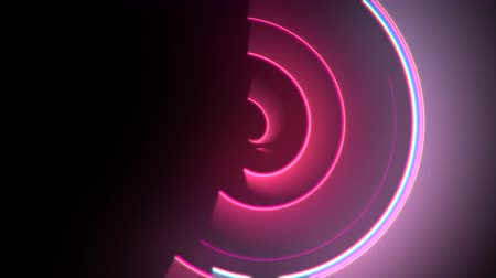 неон : Motion colorful circles vertigo, abstract background. Elegant and luxury dynamic neon club style template